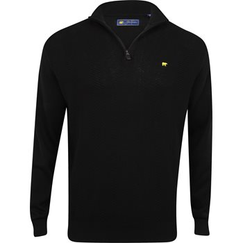 Jack Nicklaus Herringbone 1/4 Zip Sweater Outerwear Pullover Apparel
