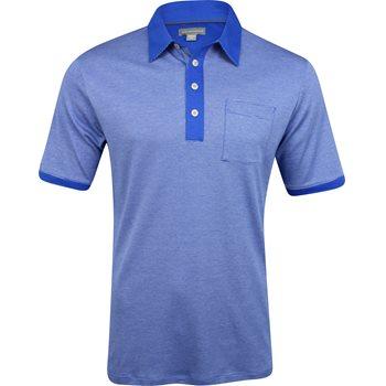 Ashworth Micro Stripe Pima Cotton Pocket Shirt Polo Short Sleeve Apparel