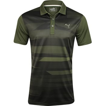 Puma SS Ice Stripe Shirt Polo Short Sleeve Apparel