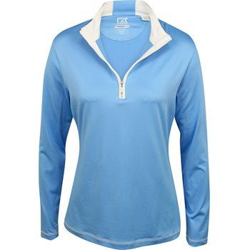 Cutter & Buck DryTec L/S Choice Zip Mock Outerwear Pullover Apparel