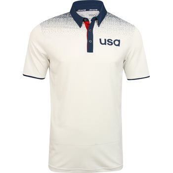 Adidas Team USA Climachill Shoulder Print Shirt Polo Short Sleeve Apparel