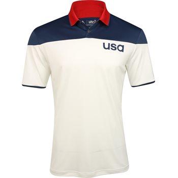 Adidas Team USA ClimaCool Sport Block Shirt Polo Short Sleeve Apparel