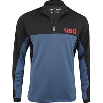 Adidas Team USA ClimaCool Layering 1/2-Zip Outerwear Pullover Apparel