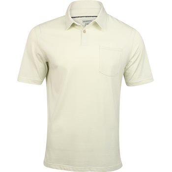 Ashworth Jersey Mini Stripe Pocket Shirt Polo Short Sleeve Apparel