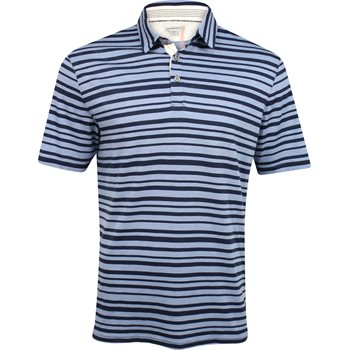 Ashworth Printed Slub Stripe Shirt Polo Short Sleeve Apparel