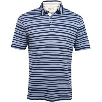 Ashworth Printed Slub Stripe Shirt Polo Short Sleeve Apparel