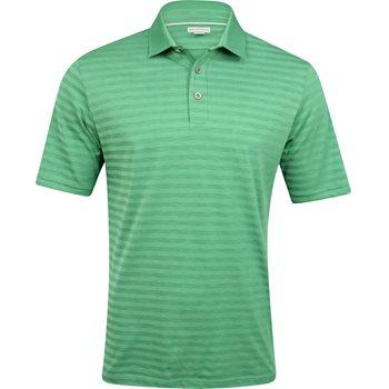 Ashworth Slub Heather Stripe Shirt Polo Short Sleeve Apparel