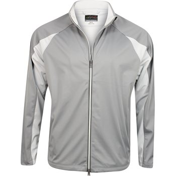 Greg Norman WeatherKnit Full Zip Pieced Rainwear Rain Jacket Apparel