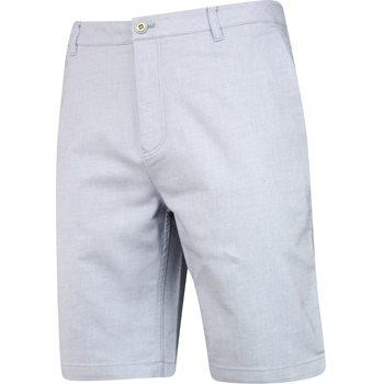 Ashworth 2 Tone Cotton Blend Twill Shorts Flat Front Apparel
