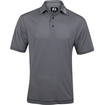 FootJoy ProDry Perf. Feeder Stripe Tour Logo Self Collar Shirt Polo Short Sleeve Apparel