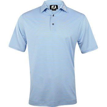FootJoy ProDry Perf. Feeder Stripe Tour Logo Self Collar Shirt Polo Short Sleeve Apparel