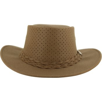Aussie Chiller Bushie Perforated Headwear Straw Hat Apparel