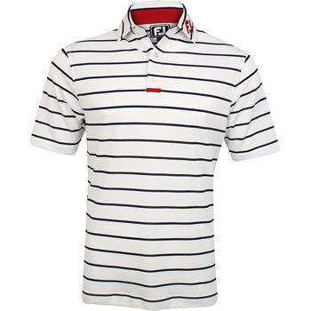 FootJoy ProDry Perf. Engineered Back Stripe Tour Logo Shirt Polo Short Sleeve Apparel