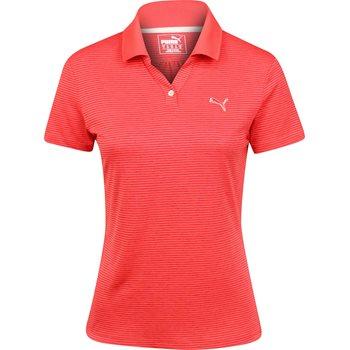 Puma Mesh Stripe Shirt Polo Short Sleeve Apparel