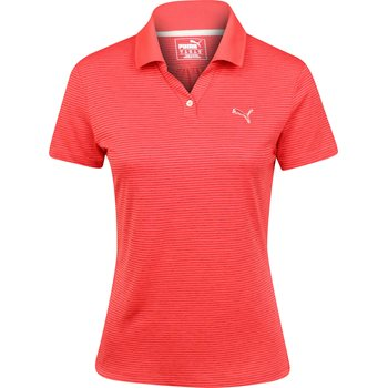 Puma Mesh Stripe Shirt Polo Short Sleeve Apparel