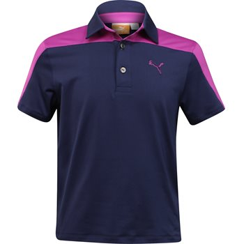 Puma Youth Colorblock Tech Shirt Polo Short Sleeve Apparel