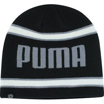 Puma Stripe Fleece Line Beanie Headwear Knit Hat Apparel