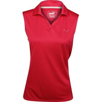 Puma Polka Stripe Sleeveless Shirt Polo Short Sleeve Apparel