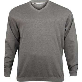 Cutter & Buck Big & Tall Journey Supima Flatback Sweater V-Neck Apparel