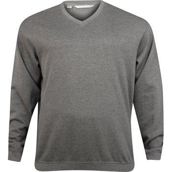 Cutter & Buck Big & Tall Journey Supima Flatback Sweater V-Neck Apparel