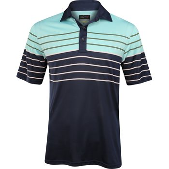 Greg Norman St. Barth Engineered Multi Stripe Shirt Polo Short Sleeve Apparel