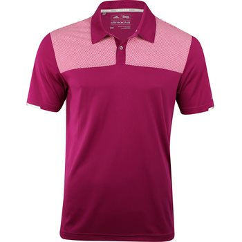 Adidas ClimaChill Heather Block Competition Shirt Polo Short Sleeve Apparel