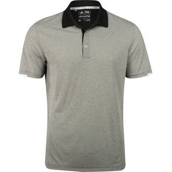 Adidas ClimaChill Heather Microstripe Shirt Polo Short Sleeve Apparel