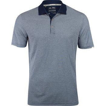 Adidas ClimaChill Heather Microstripe Shirt Polo Short Sleeve Apparel