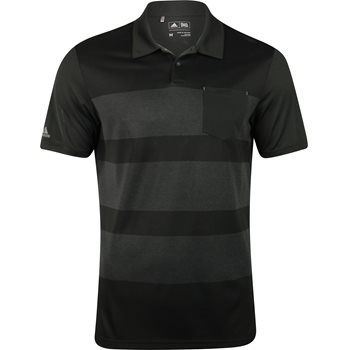 Adidas ClimaCool Engineered Heather Stripe Shirt Polo Short Sleeve Apparel