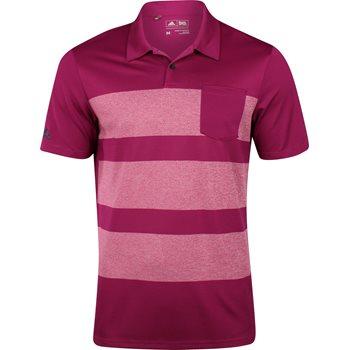 Adidas ClimaCool Engineered Heather Stripe Shirt Polo Short Sleeve Apparel