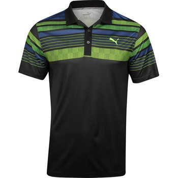 Puma Jersey Stripe Shirt Polo Short Sleeve Apparel