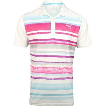 Puma Washed Stripe PWRCool Shirt Polo Short Sleeve Apparel