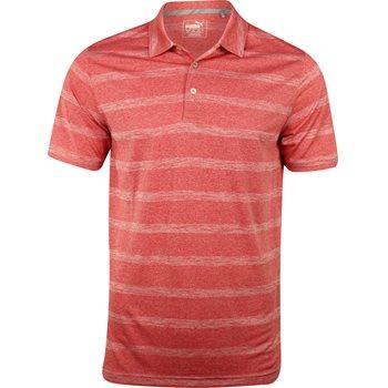 Puma Pounce Stripe Cresting Shirt Polo Short Sleeve Apparel