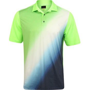 Greg Norman Sublimation Fade Print Shirt Polo Short Sleeve Apparel