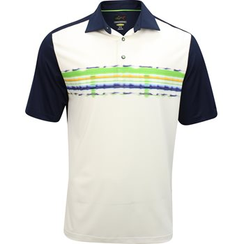 Greg Norman Sublimation Stripe Print Shirt Polo Short Sleeve Apparel