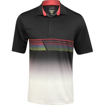 Greg Norman Sublimation Stretch Print Shirt Polo Short Sleeve Apparel