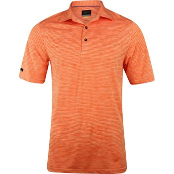 Greg Norman Heathered Stripe Shirt Polo Short Sleeve Apparel