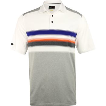 Greg Norman Engineered Stripe Stretch Shirt Polo Short Sleeve Apparel