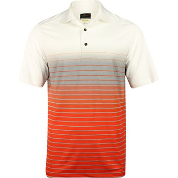 Greg Norman Sublimation Fade Stripe Shirt Polo Short Sleeve Apparel