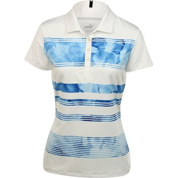Puma Bloom Stripe Shirt Polo Short Sleeve Apparel