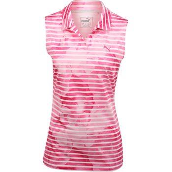 Puma Bloom Stripe Sleeveless Shirt Polo Short Sleeve Apparel