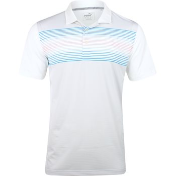 Puma Highlight Stripe Shirt Polo Short Sleeve Apparel