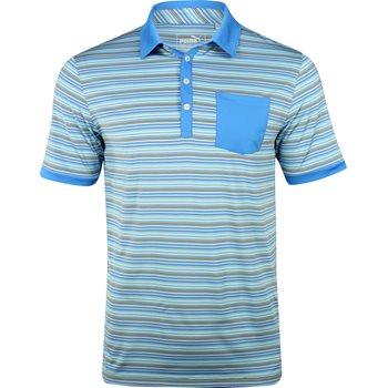 Puma Tailored Pocket Stripe Shirt Polo Short Sleeve Apparel