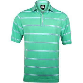 FootJoy Amelia Island Lisle Open Stripe Shirt Polo Short Sleeve Apparel