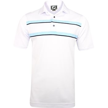 FootJoy Amelia Island Athletic Fit Space Dye Chest Stripe Shirt Polo Short Sleeve Apparel