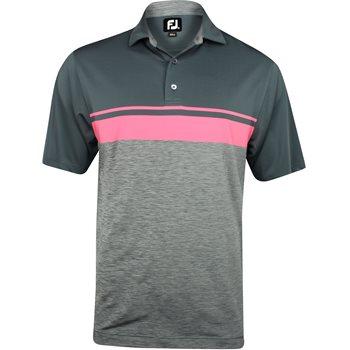 FootJoy Tuscon Lisle Color Block with Space Dye Shirt Polo Short Sleeve Apparel