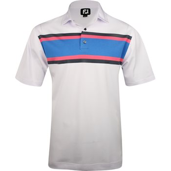 FootJoy Tuscon Pique Multi Color Chest Stripe Shirt Polo Short Sleeve Apparel