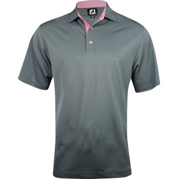 FootJoy Tuscon Stretch Pique Solid with Circle Print Trim Shirt Polo Short Sleeve Apparel