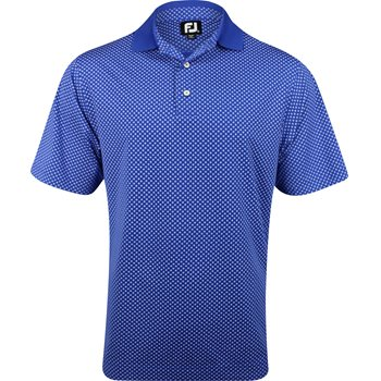 FootJoy Pacific Grove Circle Print Lisle Shirt Polo Short Sleeve Apparel