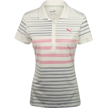 Puma Dot Stripe Shirt Polo Short Sleeve Apparel